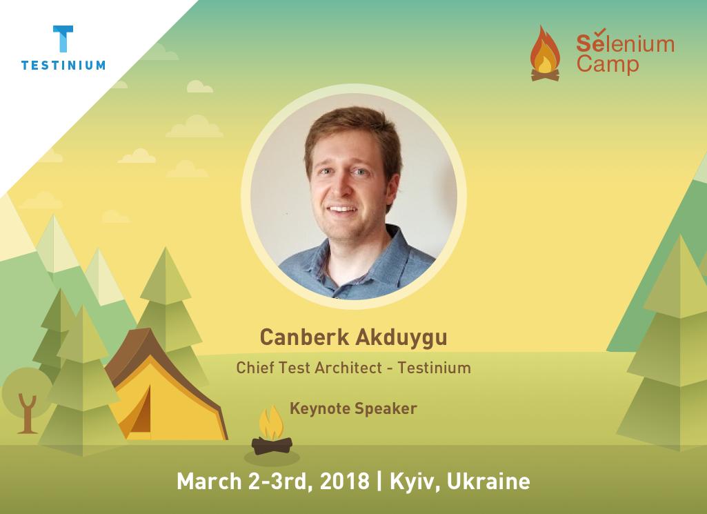 Testinium Chief Test Architect Canberk Akduygu, is attending Selenium Camp as a Keynote Speaker
